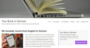 Your book in German